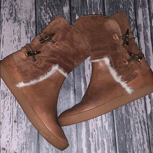 House Of Holland Brown Leather  Boots Size 7.5